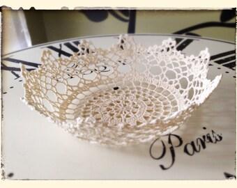 Vintage Crochet Lace Bowl