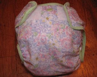 flower cloth diaper cover, waterproof PUL