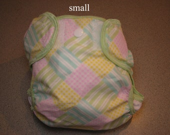 colored squares cloth diaper cover, waterproof PUL