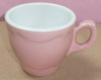 Shenango China Rimrol Welroc Pink Scallop Scroll Edge Restaurant Coffee Mug Cup