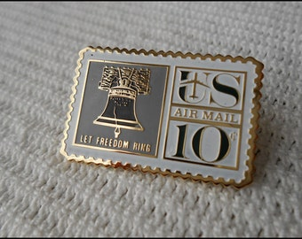 Liberty Bell Air Mail Stamp Pin