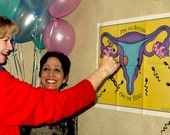 Fun Baby Shower Game! Pin the Sperm on the Egg(TM) Game Basic Package for Party of 32!