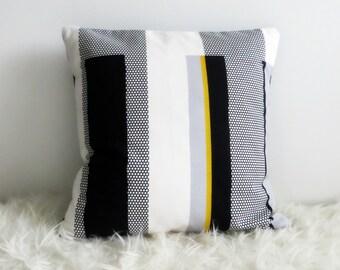 Sebragras Stripes Scandinavian Designer Cotton Cushion Cover (various sizes)