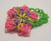 Hibiscus Flower Rubber Band Bracelet