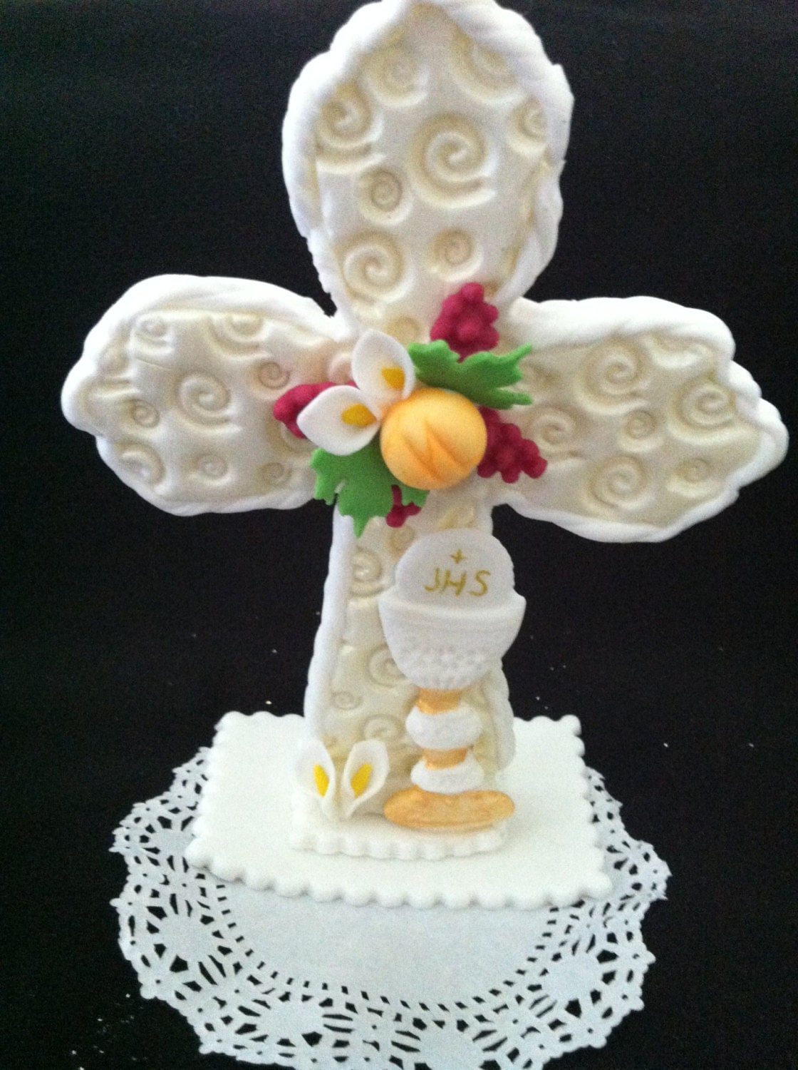 First communion cake topper baptism cake topper communion - Holy communion cake decorations ...