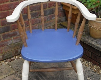 Up-cycled Vintage Elm and Beech Captains Chair