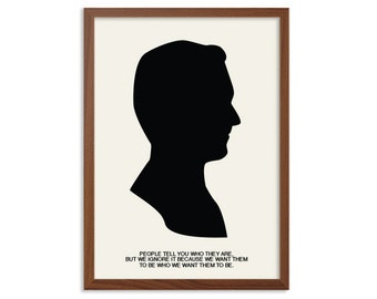 MAD MEN | Who We Want Them To Be Poster : Don Draper Modern Illustration TV Series Retro Art Wall Decor