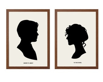 TITANIC | To The Stars Poster:  Jack And Rose Movie Modern Illustration Retro Art Wall Decor