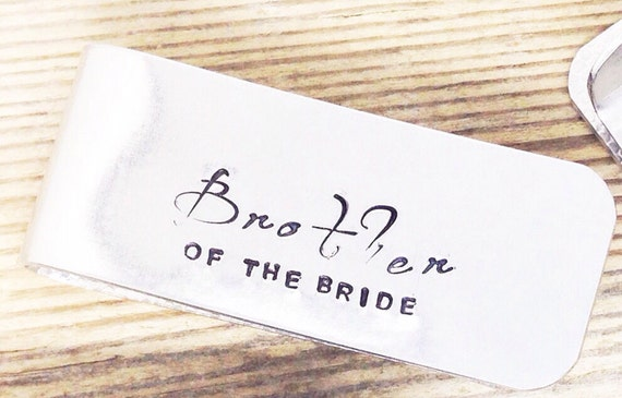 Wedding Gift For Brother Cash : gift Personalized Money Clip Brother of the bride Mens Wedding ...