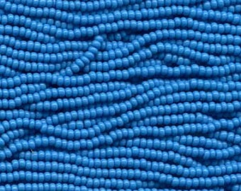 Seed Beads, 8/0, 6 String Hank, Mini Hanks, 20 Inch Loops, Blue Turquoise, Value, Glass Beads, 38 Grams, # 63050