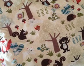 Woodland Forest Animal Baby Blanket, Flannel Baby Blanket, Woodland Nursery, Forest Nursery, Receiving Blanket Baby Shower Gift owl bear fox