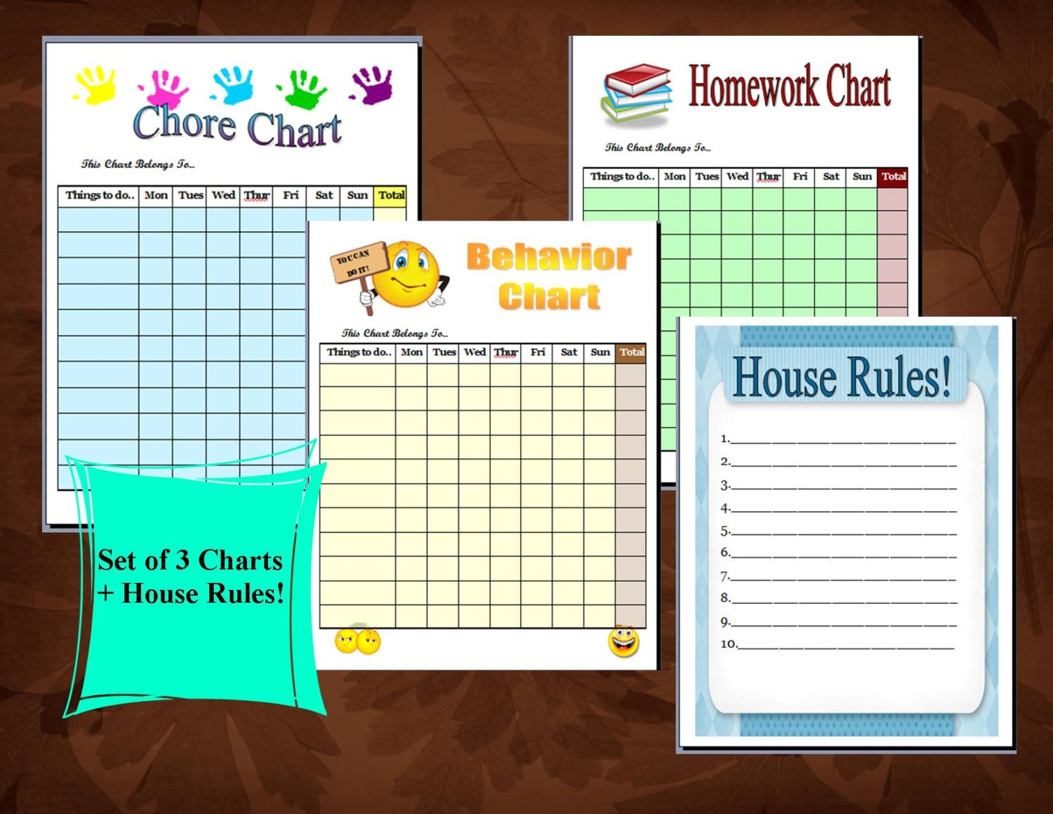 Canny image throughout house rules for kids printable
