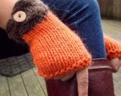 Harvest Gloves - Chunky Hand-knit Fingerless Wool Gloves