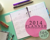 SALE! 70% off -- 2014 Planner -- PDF printable [instant download]