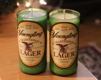 Yuengling beer bottle candle- Choose your color and fragrance!