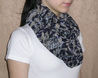 Infinity Scarf / Blue Infinity Scarf / Spotty Infinity scarf for woman