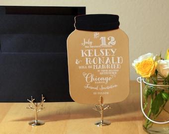 Mason Jar wedding Save the Date DEPOSIT