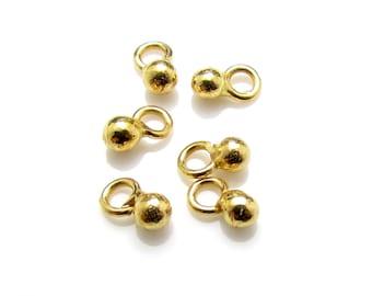 10 Pcs, 24k Gold Vermeil Charm