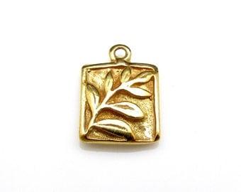 1 Pc, 24k Gold Vermeil Charm