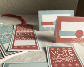Cookie Exchange Voting,  Award Bookmarks, and Table Tents