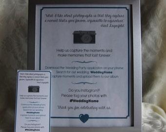 instagram & Wedding Party App Sign