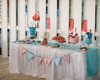 Sweets Banner/Sign for Weddings, Bridal Showers, Parties, and More! Custom/Any Color Available