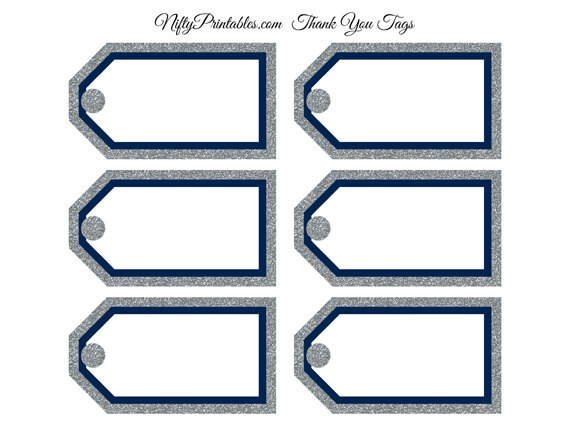 Navy blue gift tags printable blank favor tags blue silver navy blue gift tags printable blank favor tags blue silver glitter blank tags navy blue baby bridal shower favor tags nsg negle Image collections