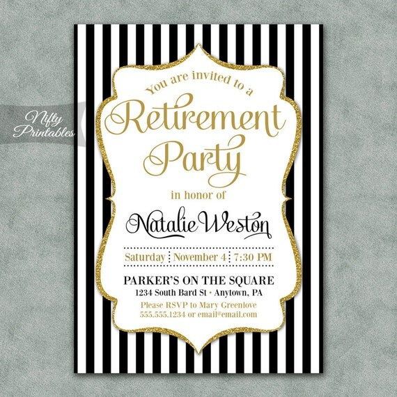 Party Invitations Free Printable Retirement Party Invitations