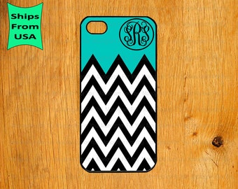 Chevron Pattern Monogram iPhone 5s Case, iPhone 5c Cover, iPhone 4 4s Cases,iPhone SE Case