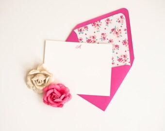 Envelope Liners Envelope Liner Lined Envelopes Lined Envelope Personalized Stationery Set Fuchsia Stationery Set Hot Pink Stationery Set