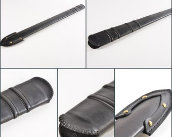 Leather scabbard sheath/The scabbards are made of wood and are coated with genuine, premium quality leather (custom, only made to order)