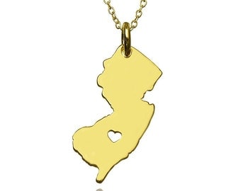 New jersey Necklace ,  New jersey State Necklace, Best gift for memory