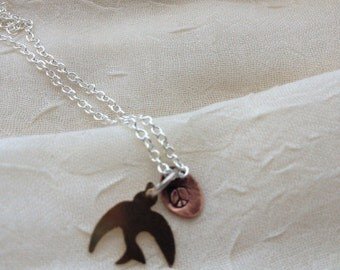 Peace with bird necklace
