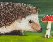 Hedgehog - Acrylic painting on canvas