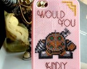 Cross-stitched Bioshock Big Daddy Would You Kindly Iphone 4S Case