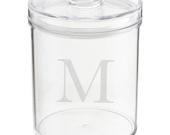 Personalized Engraved Lucite Cookie Jar with Air Tight Cover