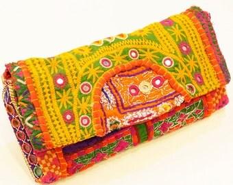 Indian mirror work clutch bag (002)