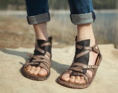 Handmade Women's Shoes, Leather Sandals, Leather Shoes, Flat Shoes, Summer Shoes Sandals, Personal Sandal Shoes