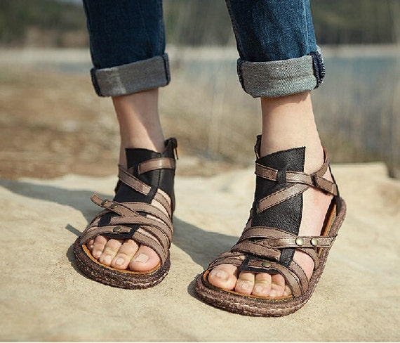 Simple Zipedit ORIGINAL SANDALIM Handmade Leather Sandals Beware Of Fake Cheap Imitations !!! ALL Our Sandals Made From Thick Cow Leather Which Come From Italy And Varnished With Special Varnish To Protect The Leather Soles Are