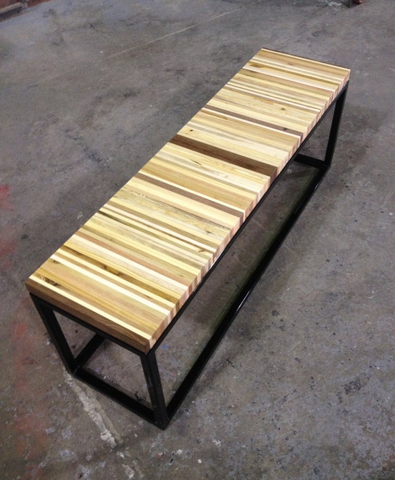 Items Similar To Reclaimed Pallet Wood And Steel Bench