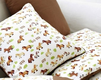 Oxford Cotton Fabric Pony Brown By The Yard
