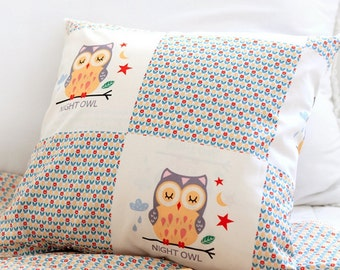 Cotton Fabric Tulip Owl By The Yard