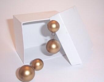Vintage Rustic Copper Earrings