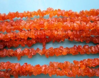 "7"" best quality fanta garnet 4mm - 5mm chips gemstone beads loose"