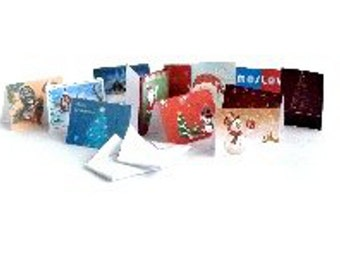 Christmas Cards best of this season with envelopes for each. dollhouse miniature 1/12 scale.