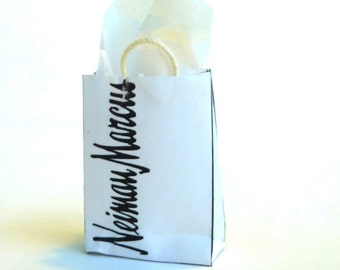 shopping bag Neiman Marcus dollhouse miniature 1/12 scale