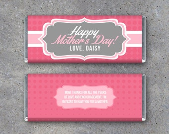 Printable wrappers etsy for Personalized chocolate bar wrappers template
