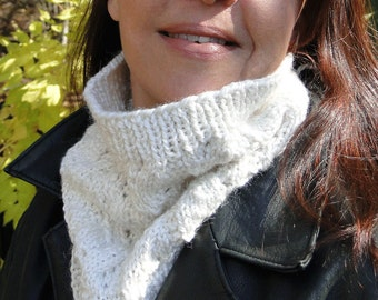 Cream Cowl Neck Warmer
