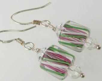 Artisan - Sterling Silver Furnace Glass Earrings E092
