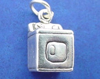 CLOTHES DRYER Charm, Laundry .925 Sterling Silver Charm